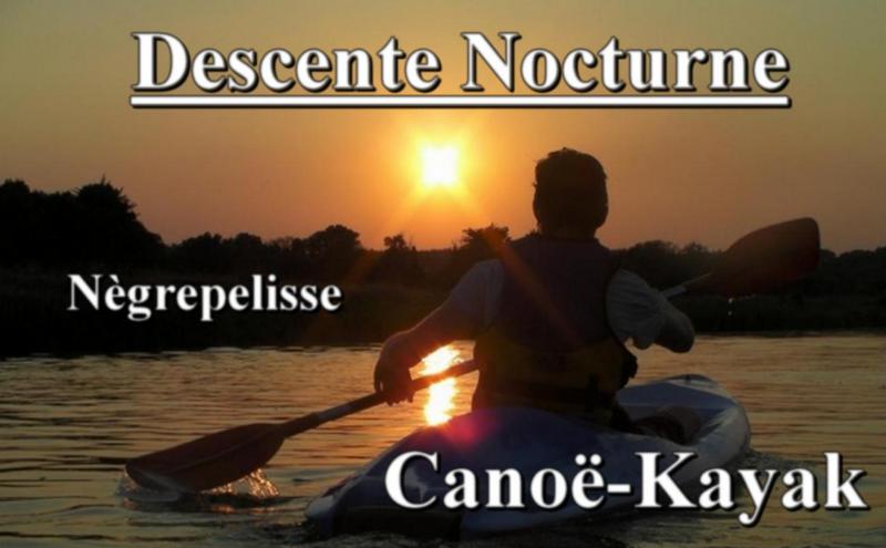 Canoë-kayak Descente Nocturne 2018