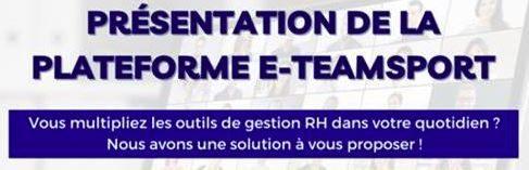 Nouveau service : une plateforme de gestion RH en ligne E-TEAMSPORT